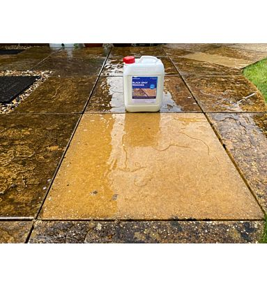 Spinaclean Black spot remover to restore your patio and driveway