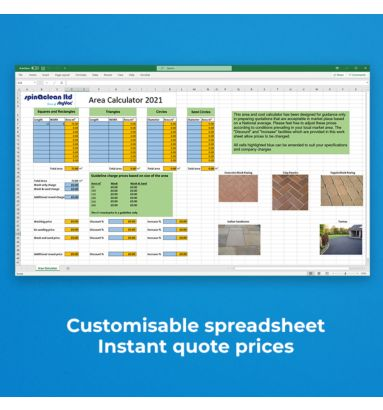 Paving quotes made easy with the area calculator