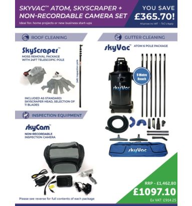 skyVac™ Atom, Skyscraper and Non-recordable Camera Set