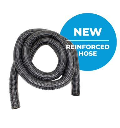 New wire reinforced suction hose for skyVac gutter cleaning Machines