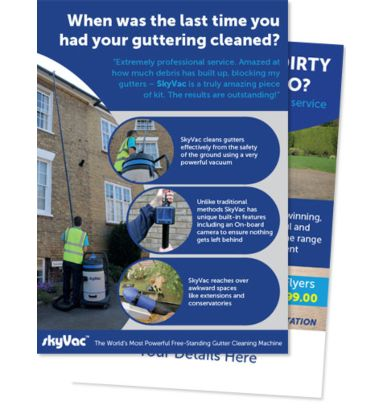 A5 Quality Gutter and Driveway Cleaning Leaflets