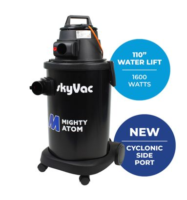 Best selling skyVac Mighty Atom with cyclonic side entry port