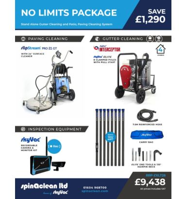 No limits gutter cleaning and pressure washer package