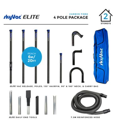 skyVac Elite High Reach 4 Pole Package
