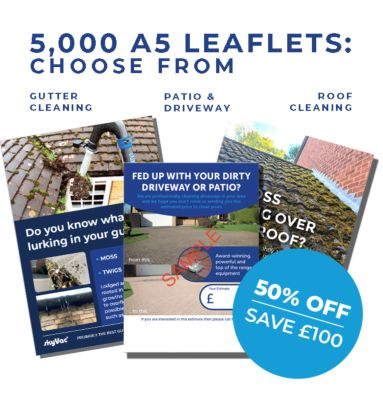 A5 leaflets to promote your cleaning business