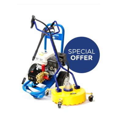 """Honda Slipstream Pro 12 Pressure washer with 18"""" surface cleaner"""