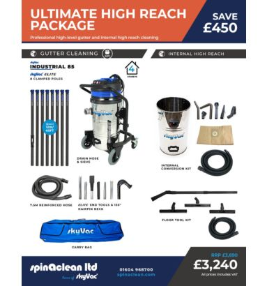 Ultimate skyVac High reach internal and external vacuum system 240 volts