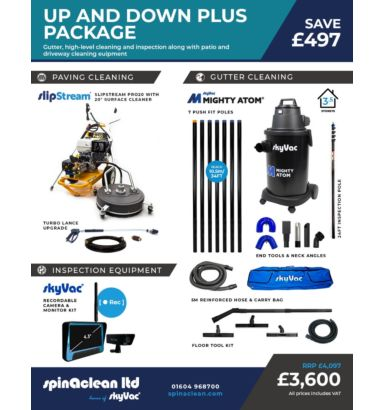 Up and down plus the ideal business bundle for pressure washing and gutter cleaning