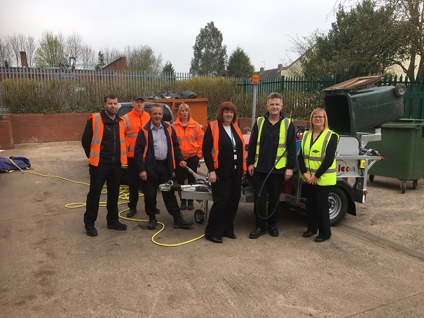 Spinaclean build bespoke Wheelie Bin Machine for Whitefriars Housing