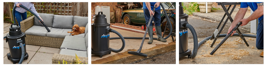 skyVac atom, a great all round wet and dry gutter vacuum