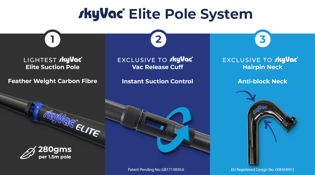 skyVac Elite Poles for harder and smarter working