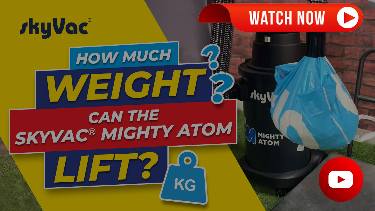 How much weight can a skyVac atom lift?