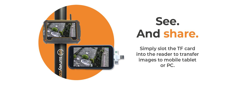 gutter inspection camera system surveyCam
